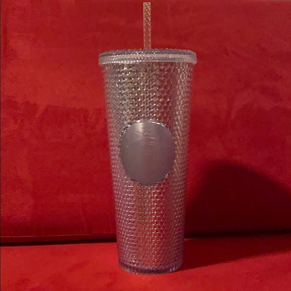 NWT Starbucks Silver Studded Cup